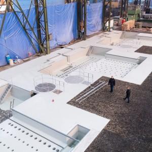 Speciální základy pro horizontální vyvrtávačky budované firmou Gremis