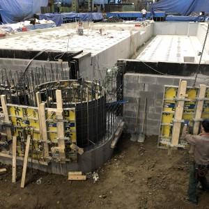 Betonové práce u základů, které provedla firma Gremis